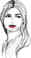 12713187-sketch-of-beautiful-woman-face-vector-illustration